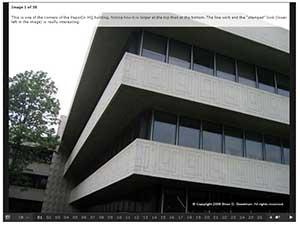 Screen shot of PepsiCo. Gallery in SlideShowPro