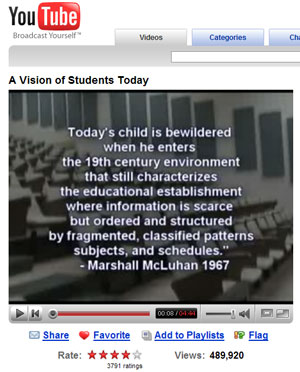 Screen shot of video on Youtube