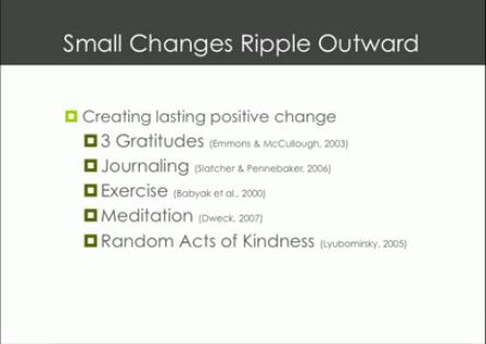 TEDxBloomington Shawn Achor May2011 - Creating lasting positive change