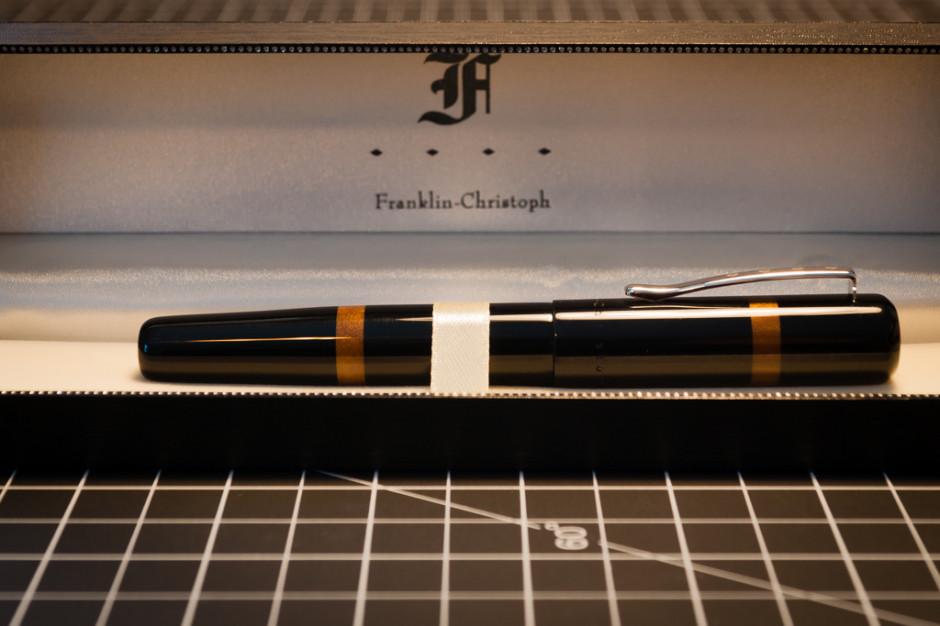 Franklin-Christoph Model 19 with The King's Gold; 18k gold, medium cursive italic nib; custom ground by Michael Masuyama